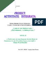 Proiect Activitate Integrata Gr. i MATE FLORI
