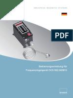 BA Frequenzregelgerät OCS 902.000810 (DE)