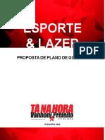 Esporte & Lazer Proposta de Plano de Governo