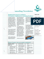 March Counseling Newsletter