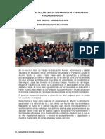 INFORME DEL CURSO TALLER ESTILOS DE APRENDIZAJE Y ESTRATEGIAS PSICOPEDAGOGICAS
