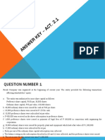 Answer key – Fringe Benefits