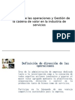 DIRECCIÓN DE LAS OPERACIONES Y GESTIÓN DE LA CADENA DE VALORv.scribd