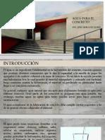 Agua para el concreto (3)