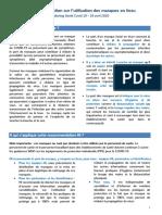 Hi Instructions Sur l Utilisation Des Masques en Tissu Fr 16042020
