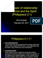 Dick Hockett the Power of Relationship With Christ and Spirit