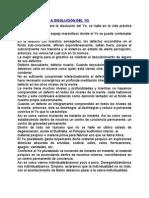 LA DIDÁCTICA DE LA DISOLUCIÓN DEL YO
