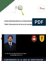 2. II Tema Planteamiento de La Idea de Investigacion Curso Metodologia de La Investigacion Cpc