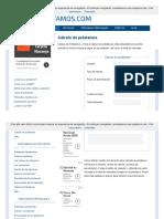 Cálculo de Préstamos _ Todo Prestamos.com