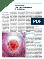 El Embrión y El Implantado. Hacia Una Nueva Concepción de Persona en El Código Civil - Dr. Alejandro Cardona Herrera