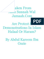 Are Protests & Demonstrations in Islam Halaal or Haram