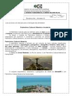 2ª Atividade Impressa_Arte material e imaterial_8ºAno