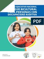 Modelo Educativo Bilingue Bicultural Para Personas Con Discapacidad Auditiva
