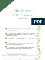 Análise de agente antimicrobiano