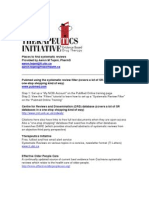 Therapeutics Initiative - Places to find systematic reviews
