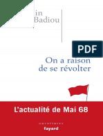 Badiou, Alain - On a Raison de Se Révolter (2018, Fayard) - Libgen.lc