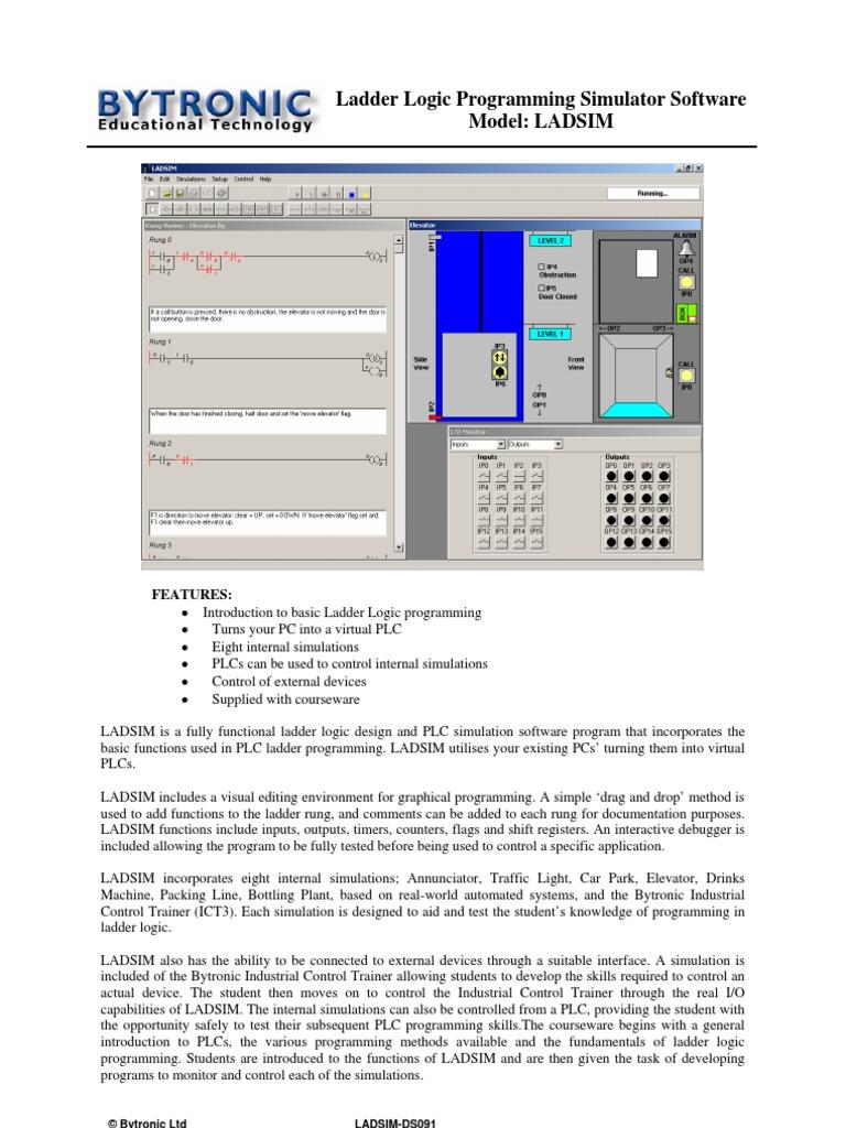 Ladsim ds091 programmable logic controller simulation ccuart Choice Image