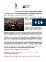 CONCERTO BANDA DELL'ARMA DEI CARABINIERI - IL 29 LUGLIO A TORRE DEL LAGO