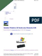 Instalar Windows XP desde USB
