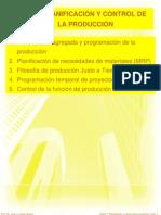 TEMA 7 PLANIFICACIÓN Y CONTROL DE LA PRODUCCION