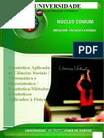 0823_Estatística Aplicada Às Ciências Sociais _Matemática e Bioestatística_Estatística