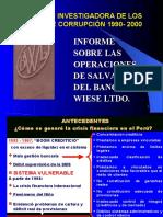 Salvataje del Banco Wiese - Susana de la Puente