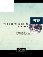 IChemE Metrics sustainability