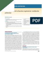 Panorama de la función respiratoria