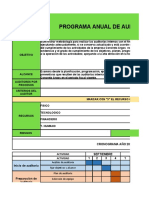 Formato Programa de Auditoria Interna