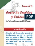 TEMA 4 COSTO DE SUELDOS Y SALARIOS