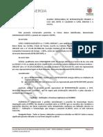 Minuta do acordo operacional de representação na CCEE