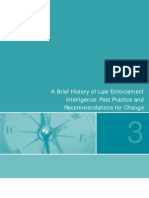 A Brief History of Law Enforcement Intelligence