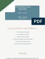 PPT_KELOMPOK 11_PATOFISIOLOGI_SIROSIS_2019B