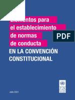 PNUD Elementos Para Normas de Conducta de La Convencion