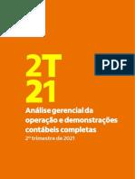 Demonstrações Contábeis Completas BR GAAP Banco Itaú 2T21