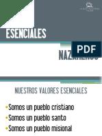 ESENCIALES NAZARENOS presentación