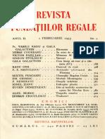 Revista fundațiilor regale februarie 1935