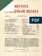 Revista fundațiilor regale martie 1935
