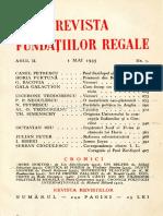 Revista fundațiilor regale mai 1935