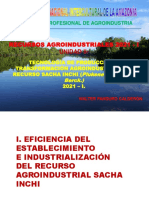 RESUMEN 4. PRODUCCIÓN E INDUSTRIALIZACIÓN DEL RECURSO AGROINDUSTRIAL SACHA INCHI (PLUKENETIA VOLUBILIS). 2021-I.  10 UL 2021.