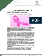 Un corso di formazione per aiutare le donne affette da tumore al seno - Il Metauro.it, 2 agosto 2021
