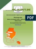 Vorschau 62144 Starke Und Schwache Verben - Stationenlernen Mit Stationenmatrix