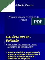-Malaria Grave Formas Clinicas e Tratamento Especifico