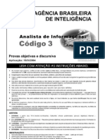 PROVA ABIN 2004 ANALISTA DE INFORMAÇÕES 3