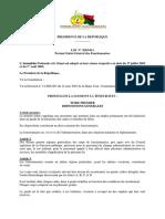 LOI 2003-011 portant statut Général des Fonctionnaires