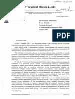 2021.06.29 Urząd Miasta Odpowiedź Na Petycje o Stypendium Dla Radnych