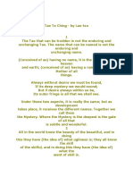 Tao Te Ching - By Lao-Tzu