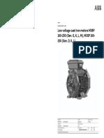Low voltage cast iron motors M3BP 160-250 (Gen. G, K, L, M), M3GP 160-250 (Gen. D, K, L)