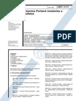 NBR 5737 - Cimentos Portland Resistentes a sulfatos