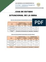 4.-Ficha  de estado situacional de la obra